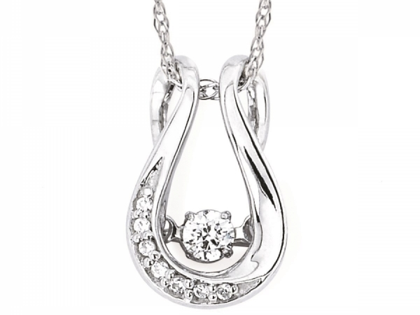 Pendants & Necklaces - SS Shimmering Diamond Pendant